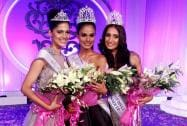 Asha Bhat, Miss Diva Universe 2014 2nd runner up, Noyonita Lodh, Miss Diva Universe  2014 winner, Alankrita Sahai, Miss Diva Universe 2014 1st runner up