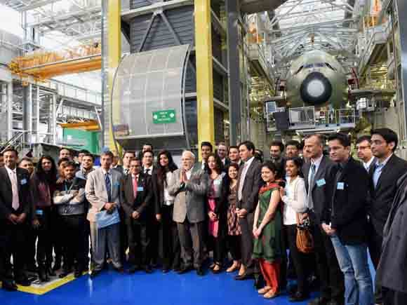 Narendra Modi, PM, Toulouse, France, Eiffel Tower, Francois Hollande, Laurent Fabius,Paris, National Centre for Space Studies, CNES
