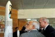 Modi during a visit to the CNES