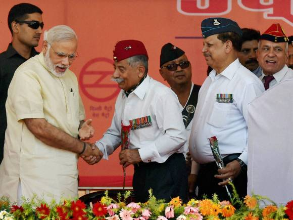 Narendra Modi, Manohar Parrikar, OROP scheme, Ex-servicemen, OROP, one rank one pension, Modi Government, Faridabad