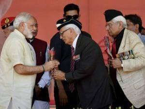 Prime Minister Narendra Modi congratulated by ex-servicemen