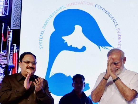 Narendra Modi, Global Call To Action Summit 2015, Prime Minister Narendra Modi, Health Minister, JP Nadda, New Delhi