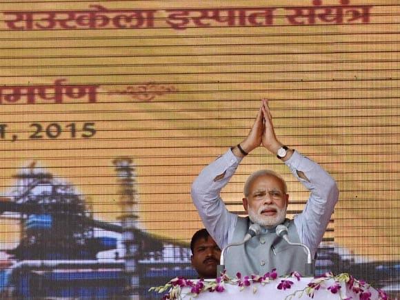 Prime Minister of India, Narendra Mod, Rourkela Steel Plant, Modi, Rourkela Steel,  Jindal Steel plant, Jindal Steel, Union Mines and Steel Minister, Narendra Singh Tomar, Sajjan Jindal, Rourkela, Odisha