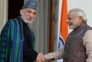 Modi meets Hamid Karzai