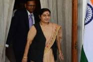 Sushma Swaraj at Hyderabad house