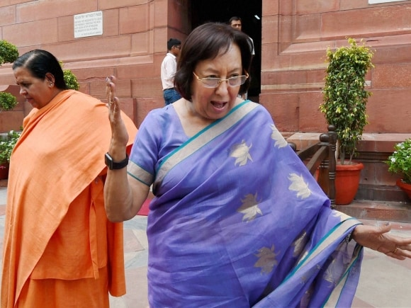 Uma Bharti, Najma Heptulla, Land Bill, Parliament, Monsoon session, Land Acquisition Act, BJP, New Delhi