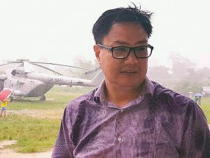 Union minister Kiren Rijiju had a miraculous escape as his chopper made an emergency landing