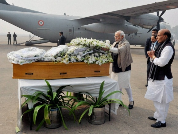 Narendra Modi, Mufti Mohammad Sayeed, Rajnath Singh