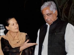 Mohammad Sayeed with Congress President Sonia Gandhi