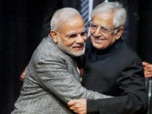 Mufti Mohammad Sayeed with Prime Minister Narendra Modi