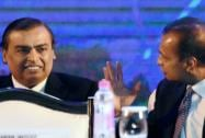 Reliance Industries Chairman Mukesh Ambani and Reliance Group chairman Anil Ambani