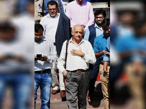 Mukesh Bhatt out side at North Block