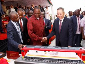 a Chinese-backed railway costing nearly $3.3 billion that eventually will link a large part of East Africa