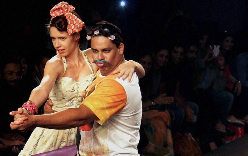 Bollywood Actors, Cyrus Broacha, Kalki Koechlin, walk, ramp, showstoppers, fashion show, Mumbai