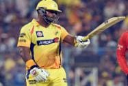 Chennai Super Kings captain M S Dhoni bowled by Mumbai Indians bowler L Malinga