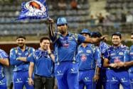 Mumbai Indians celebrate at Wankhede