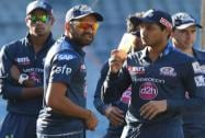 Rohit Sharma with players during a practice session in Mumbai