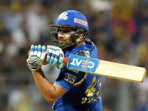 Mumbai Indians player Rohit Sharma in action during the IPL match against Royal Challengers Bangalore in Mumbai (2)