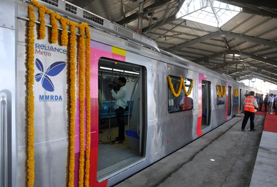 Photographers capturing the newly flagged off  Versova-Ghatkopar Metro in Mumbai