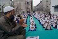 Muslim girls practicing Yoga