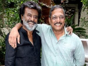 Rajinikanth and Nana Patekar pose together for a snap