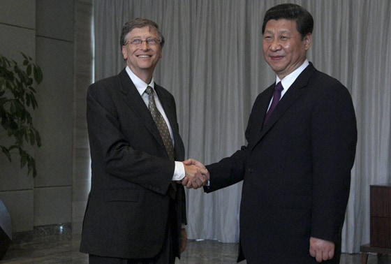 Microsoft founder Bill Gates and China's President Xi Jinping