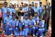 Prime Minister Narendra Modi at a meeting with the members of the Blind World Cup winning Indian cricket team