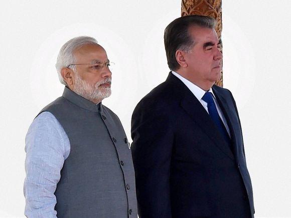 Prime Minister of India, Narendra Modi, India, Tajikistan, President of Tajikistan, PM Modi, Modi, Emomali Rahmon, Dushanbe