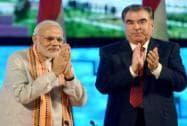 Narendra Modi meets Tajikistan President Emomali Rahmon