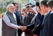 Prime Minister Narendra Modi with Tajikistan President Emomali Rahmon