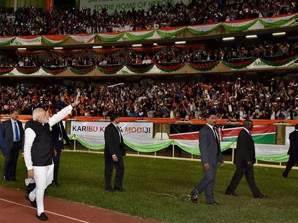 Kasarani Stadium, Narendra Modi, Nairobi, PM Modi's Africa tour, Africa Tour,