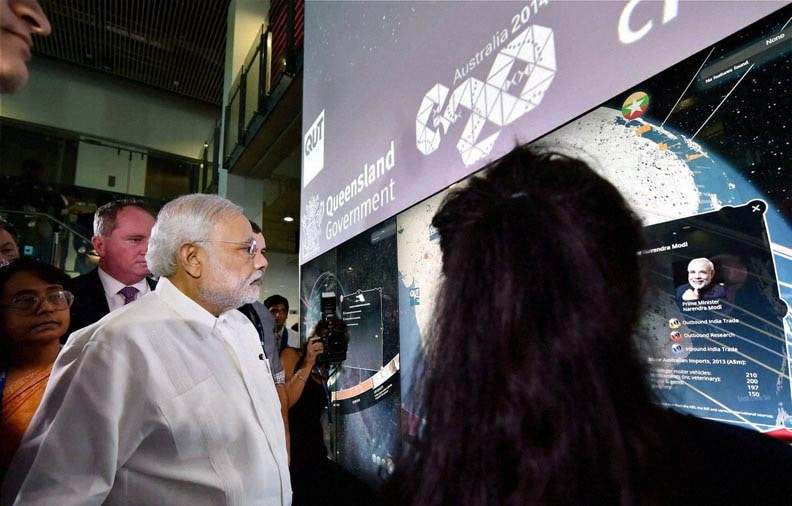 Prime Minister Narendra Modi, Queensland University of Technology, Brisbane, Australia