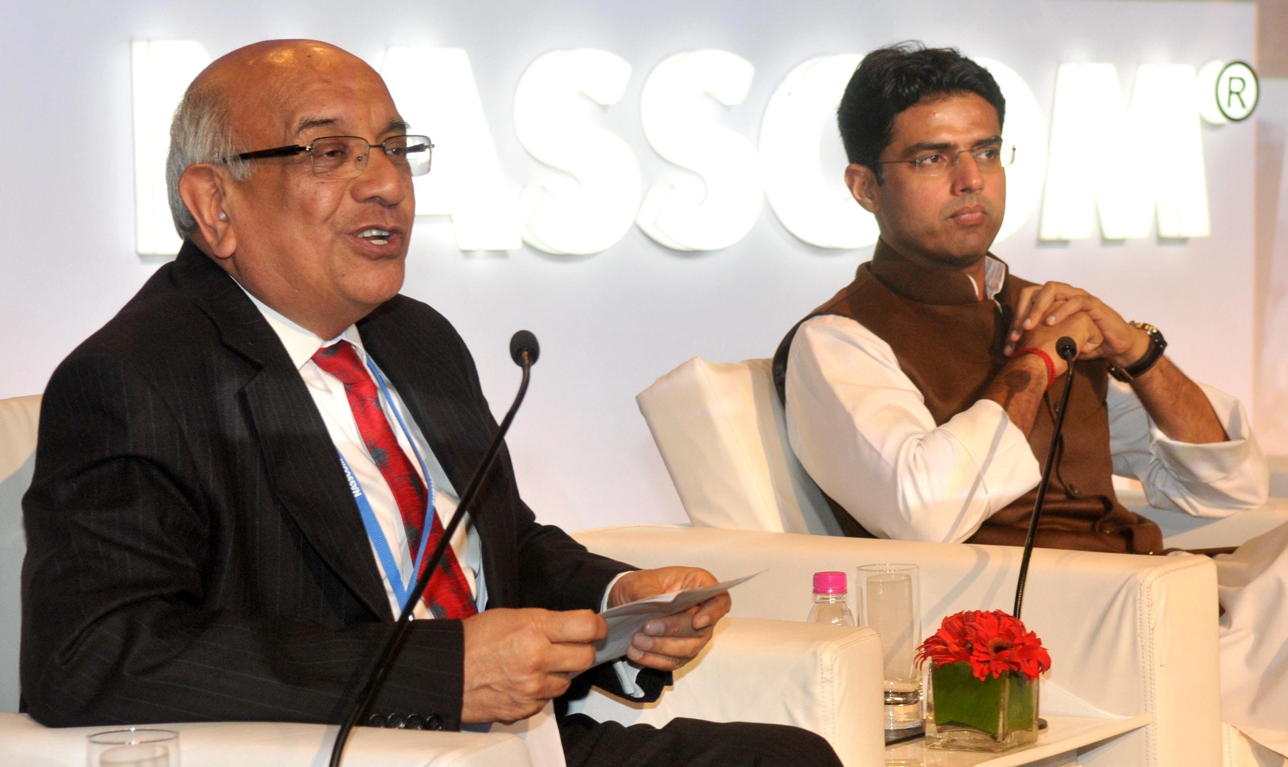 Som Mittal, Sachin Pilot, Corporate Affairs Minister, India Leadership, Nasscom,