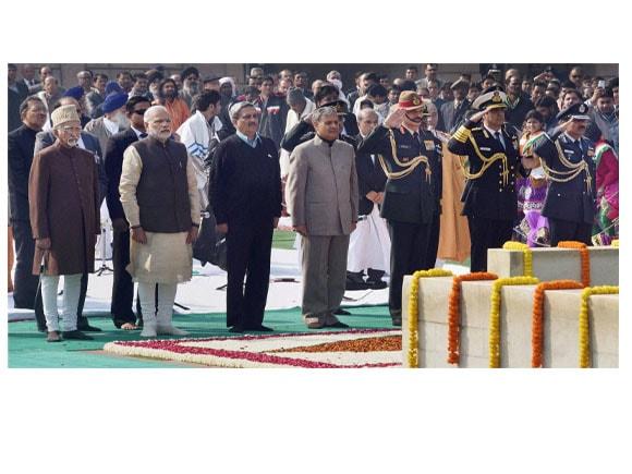 Mahatma Gandhi,  67th death anniversary, Mahatma Gandhi Death Anniversary, Former Prime Minister Manmohan Singh,President Pranab Mukherjee, Vice President Hamid Ansari, Prime Minister Narendra Modi, Congress President Sonia Gandhi, Defence Minister Manohar Parrikar, MoS Rao Inderjit Singh