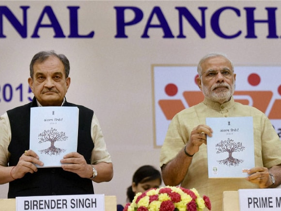National Panchayati Raj Day, Prime Minister of India, Narendra Mod, Union Minister for Rural Development, Panchayati Raj, Drinking Water and Sanitation, Birender Singh
