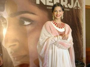 Actress Sonam Kapoor during the celebration of the success of her film