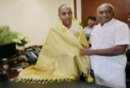 Anant Geete takes charge at his office