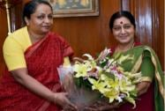 Sushma Swaraj takes charge as Minister of External Affairs