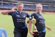 New Zealand women cricketers Suzie Bates and Sophia Devine
