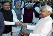 New Bihar Chief Minister Nitish Kumar, national president Sharad Yadav
