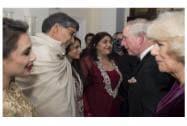 Nobel Peace Prize winner Kailash Satyarthi attend the British Asian Trust dinner in London