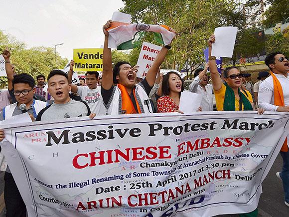 ABVP, Chinese Embassy, Arun Chetna Manch, Arunachal Pradesh, Northeast, border state