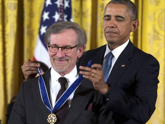Steven Spielberg, Barack Obama, Nation Highest Civilian Award, Presidential Medal of Freedom, White House ceremony
