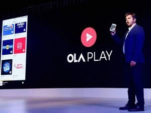 Bhavish Aggarwal of  OLA at the launch of the Ola Play