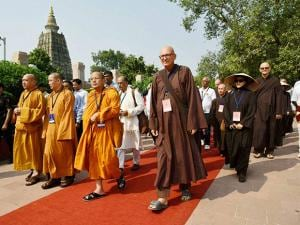 Buddhist monks and devotees from 39 countries arrive to offer special prayer