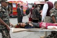 Injured persons being shifted to safer place in earthquake hit Nepal