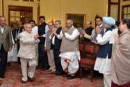 Sonia Gandhi, Manmohan Singh, Pranab Mukherjee