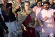 Sonia Gandhi with Anand Sharma