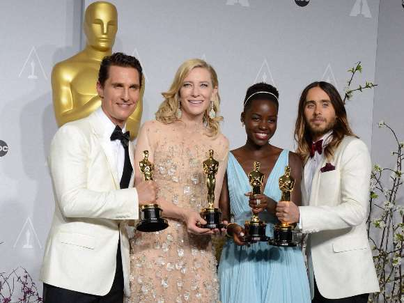 Matthew McConaughey, Dallas Buyers Club, Cate Blanchett, Blue Jasmine, Lupita Nyong'o, Oscars