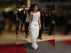 Priyanka Chopra appears backstage at the Oscars